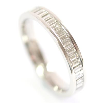Platinum Baguette Cut Diamond Eternity Ring 4.jpg
