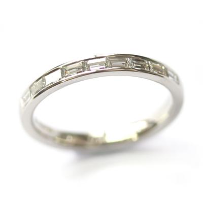 Platinum Channel Set Baguette Cut Diamond Eternity Ring 2.jpg