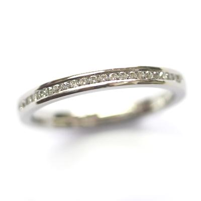 Platinum Round Brilliant Cut Channel Set Diamond Eternity Ring 2.jpg