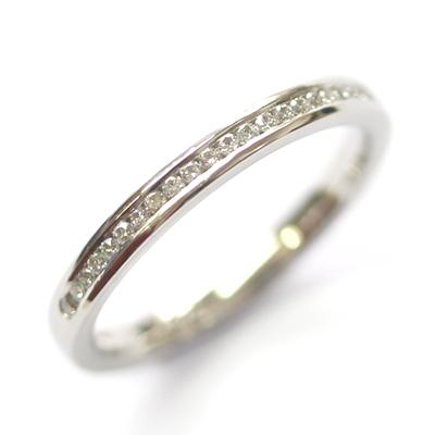Platinum Round Brilliant Cut Channel Set Diamond Eternity Ring 1.jpg