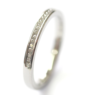 Platinum Round Brilliant Cut Channel Set Diamond Eternity Ring 4.jpg