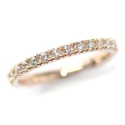Rose Gold Fully Diamond Set Eternity Ring 4.jpg