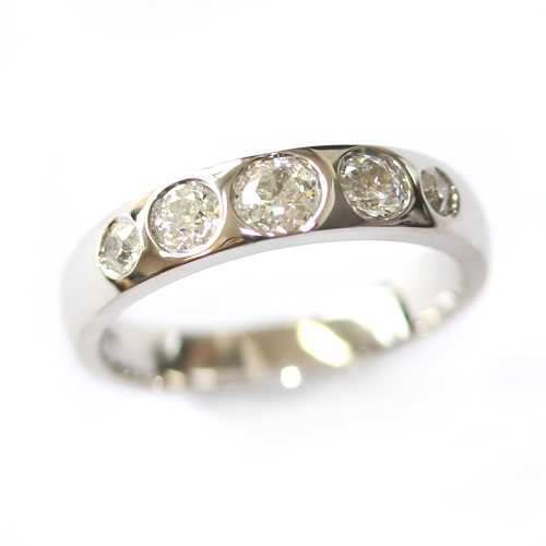 18ct White Gold Eternity Using the Customers Diamonds.jpg