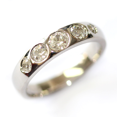 18ct White Gold Eternity Using the Customers Diamonds 3.jpg