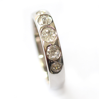 18ct White Gold Eternity Using the Customers Diamonds 4.jpg