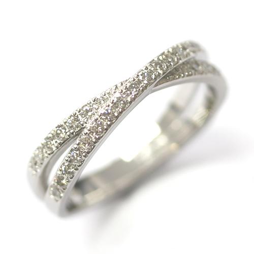 Platinum Diamond Set Cross Eternity Ring.jpg
