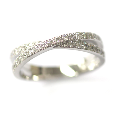 Platinum Diamond Set Cross Eternity Ring 3.jpg