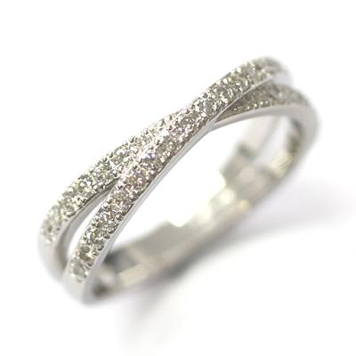Platinum Diamond Set Cross Eternity Ring 1.jpg