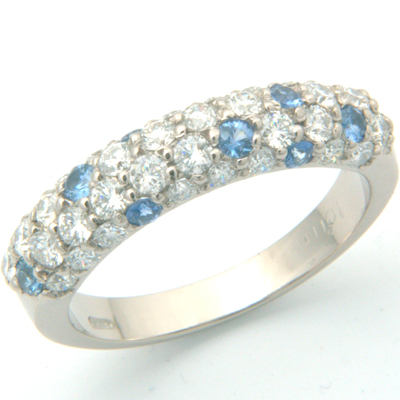 18ct white gold diamond and sapphire pave eternity ring 3.jpg