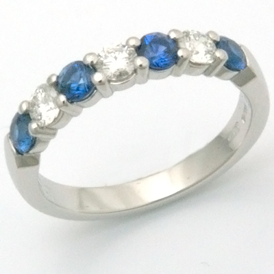 Platinum Diamond and Sapphire Eternity Ring 2.jpg