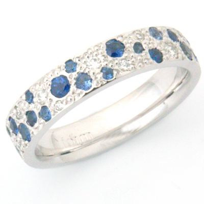 Sapphire and Diamond Scatter Pave Eternity Ring 2.jpg