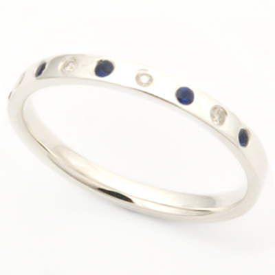 18ct White Gold Sapphire and Diamond Eternity Ring 2.jpg