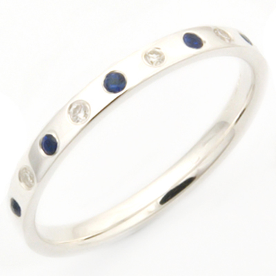 18ct White Gold Sapphire and Diamond Eternity Ring 3.jpg