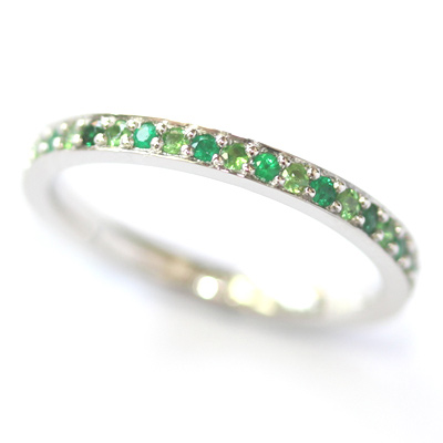 Platinum Tsavorite and Emerald Eternity Ring 2.jpg