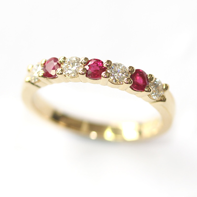 18ct Yellow Gold Ruby and Diamond Eternity Ring 1.jpg