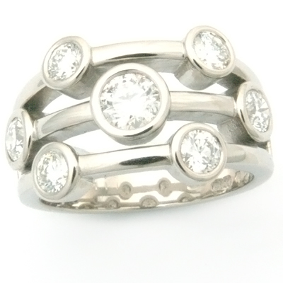 Palladium Multi Strand Diamond Eternity Dress Ring 2 - Copy.jpg