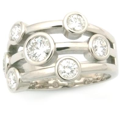Palladium Multi Strand Diamond Eternity Dress Ring 1.jpg