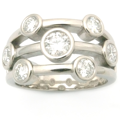 Palladium Multi Strand Diamond Eternity Dress Ring 3.jpg