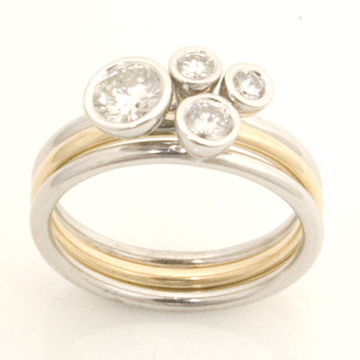 Yellow and White Gold Diamond Stacker Ring 2.jpg