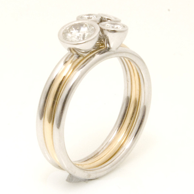 Yellow and White Gold Diamond Stacker Ring 4.jpg