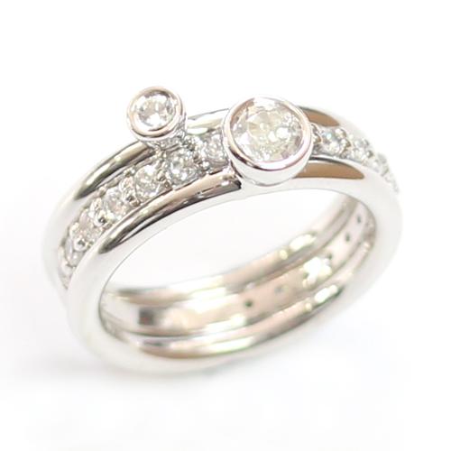 White Sapphire and White Topaz Stacker Rings 2.jpg