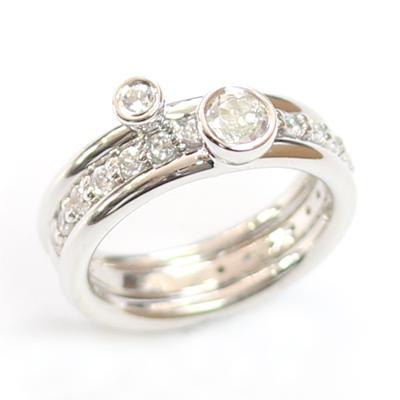 White Sapphire and White Topaz Stacker Rings 6.jpg