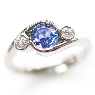Platinum Sapphire and Diamond Dress Ring 1.jpg