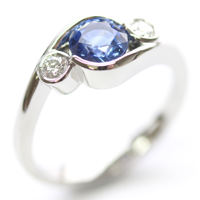 Platinum Sapphire and Diamond Dress Ring 2.jpg