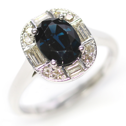 White Gold Sapphire and Diamond Art Deco Dress Ring.jpg