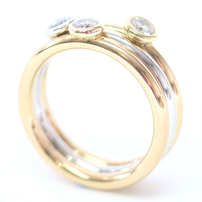 18ct White and Yellow Gold Diamond Stacking Rings 4.jpg
