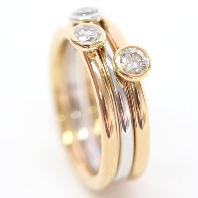 18ct White and Yellow Gold Diamond Stacking Rings 6.jpg