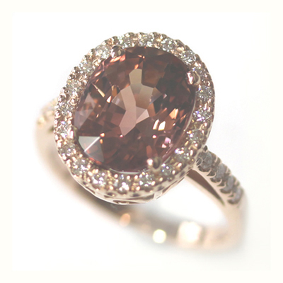 Rose Gold Tourmaline and Diamond Dress Ring 3.jpg