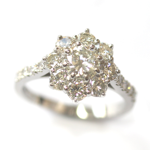 Cluster Dress Ring Using the Customers Diamonds 1.jpg