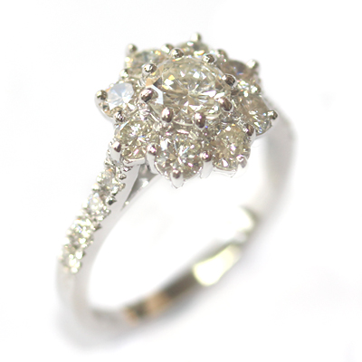 Cluster Dress Ring Using the Customers Diamonds 2.jpg