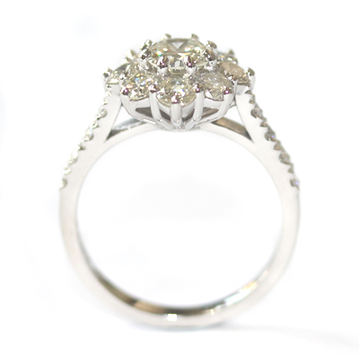 Cluster Dress Ring Using the Customers Diamonds 7.jpg