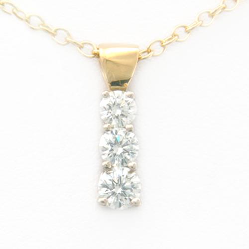 18ct Yellow Gold Trilogy Diamond Pendant.jpg