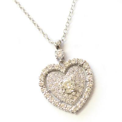 9ct White Gold Fully Diamond Set Heart Pendant 1.jpg