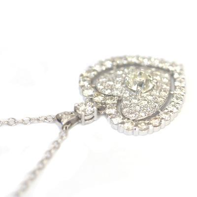 9ct White Gold Fully Diamond Set Heart Pendant 4.jpg