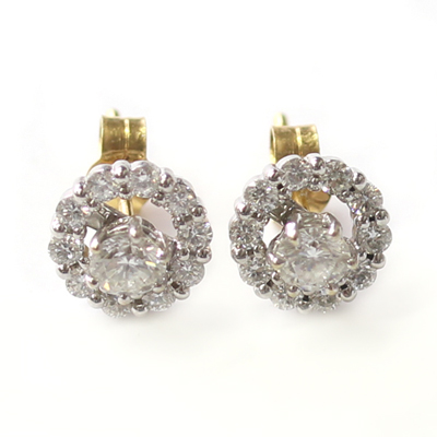White Gold Interchangeable Diamond Halo Earrings 1.jpg
