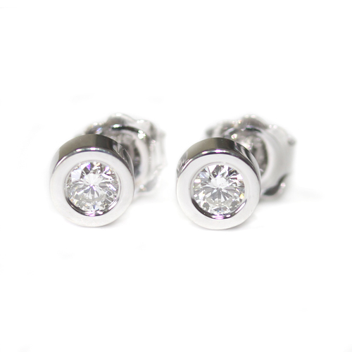 Rub Set Solitaire Diamond Earrings.jpg