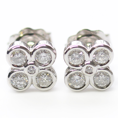 9ct White Gold Diamond Earrings 1.jpg