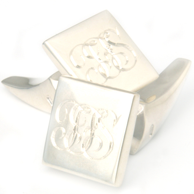 Silver Signature Engraved Tooth Cufflinks 1.jpg