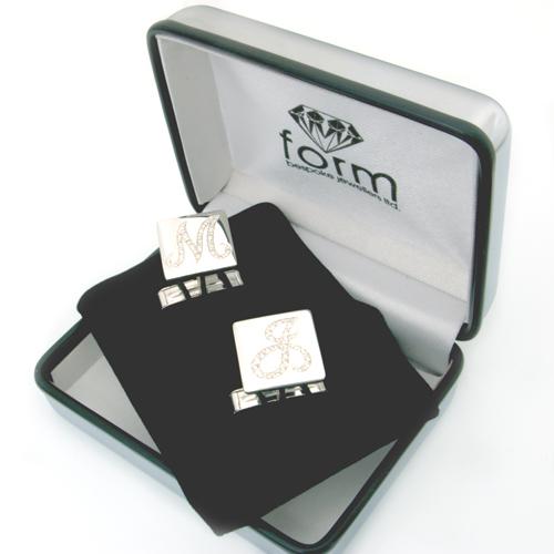 Brilliante Silver Diamond Set Cufflinks.jpg