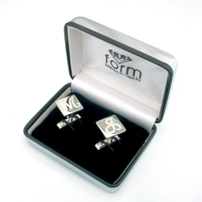 Brilliante Silver Diamond Set Cufflinks 3.jpg