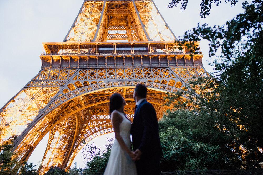 Postboda en París -