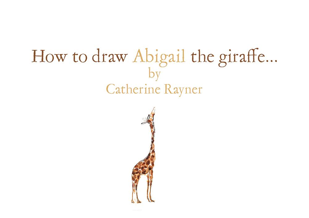 How to draw Abigail the giraffe