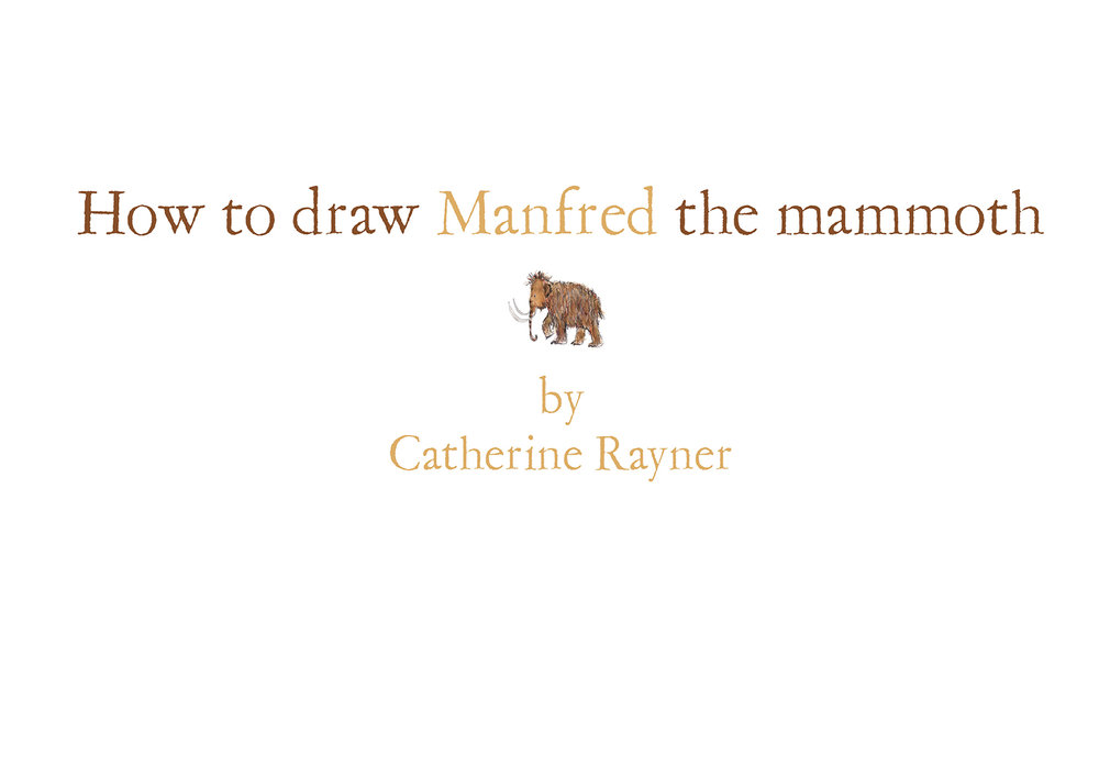 How to draw Manfred the mammoth