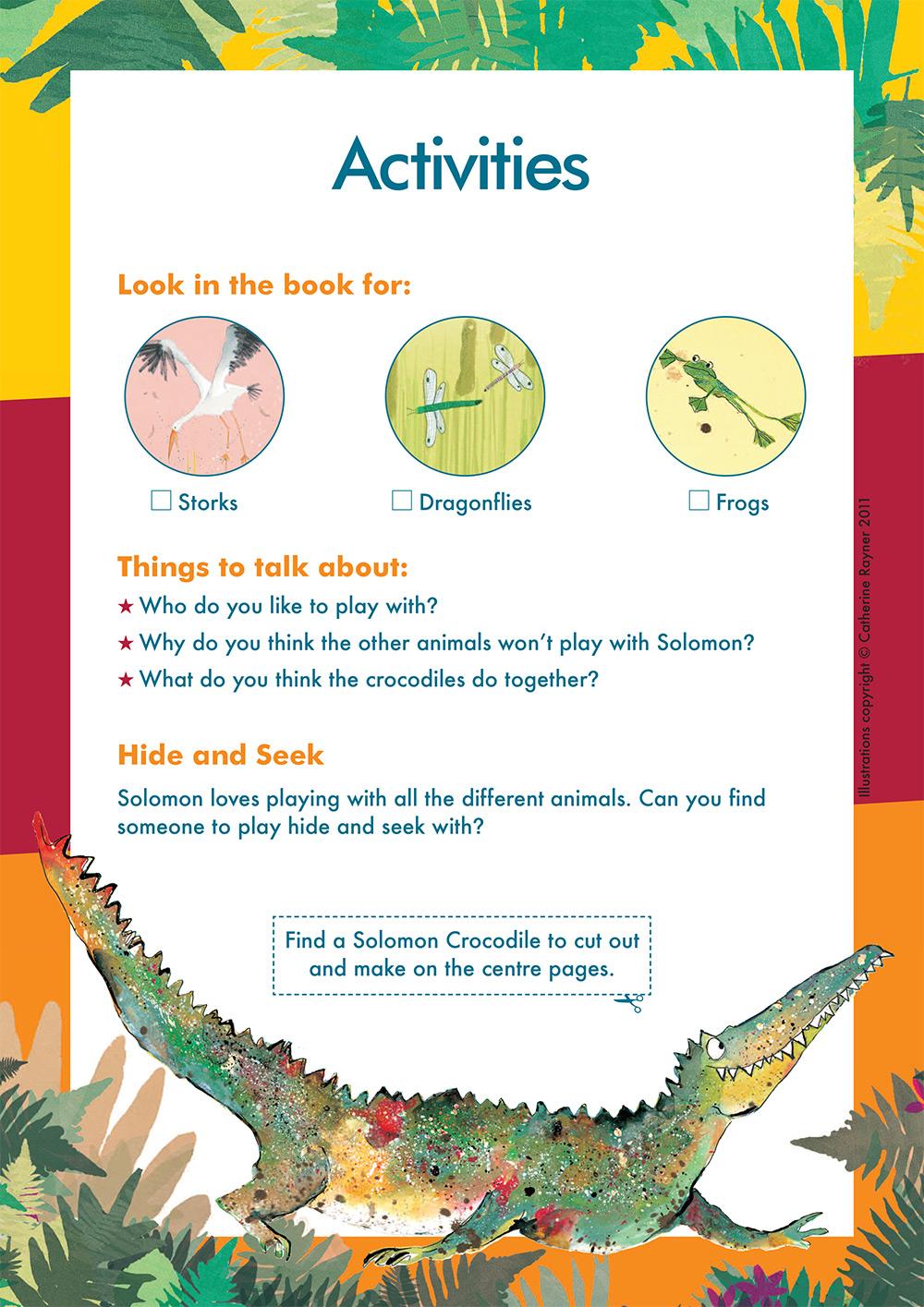 Solomon Crocodile Activity Sheet 2