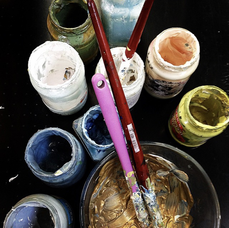 The ink, mixed and ready to paint with.