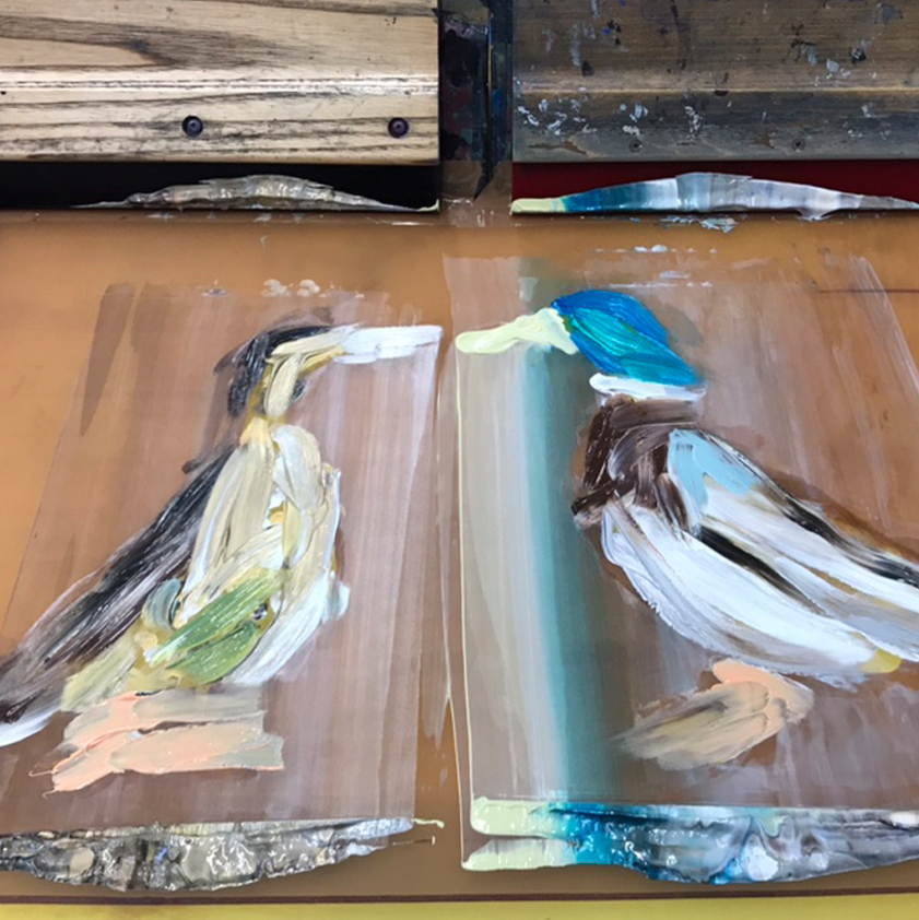 'Bridget and Glen's' 'mono printed' layer